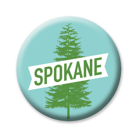 "Spokane Tree 1"" button by Badge Bomb"