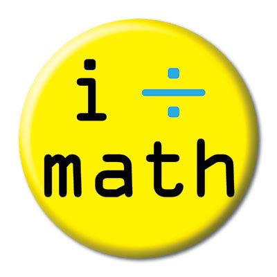 CHetCH Nerd I Divide Math 1 inch Button