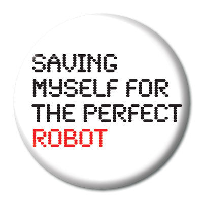CHetCH Nerd Perfect Robot 1 inch Button