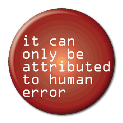 CHetCH Nerd Human Error 1 inch Button