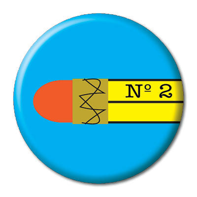 CHetCH Nerd No. 2 Pencil 1 inch Button