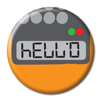 CHetCH Nerd Hello 1 inch Button