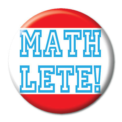 CHetCH Nerd Math Lete 1 inch Button