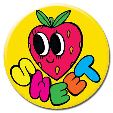 "Sweet Strawberry 1.25"" Button by Chris Uphues"