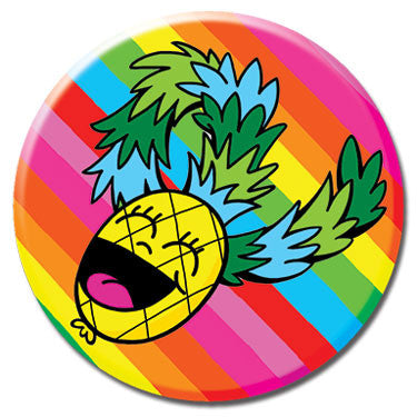 "Laughing Pineapple 1.25"" Button by Chris Uphues"