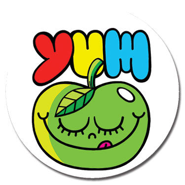 "Yum Green Apple 1.25"" Button by Chris Uphues"