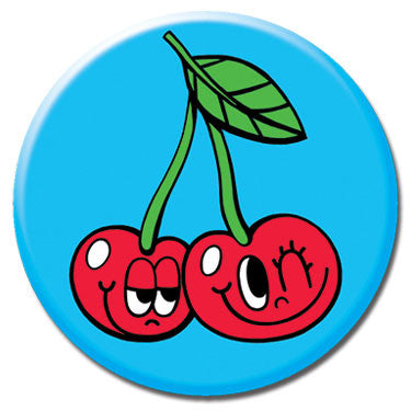 "Cherries 1.25"" Button by Chris Uphues"