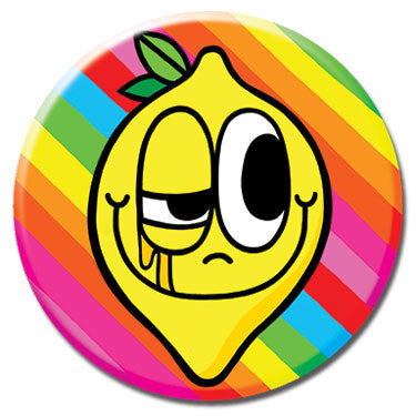 "Lemon Rainbow 1.25"" Button by Chris Uphues"