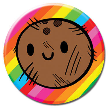 "Coconut Rainbow 1.25"" Button by Chris Uphues"