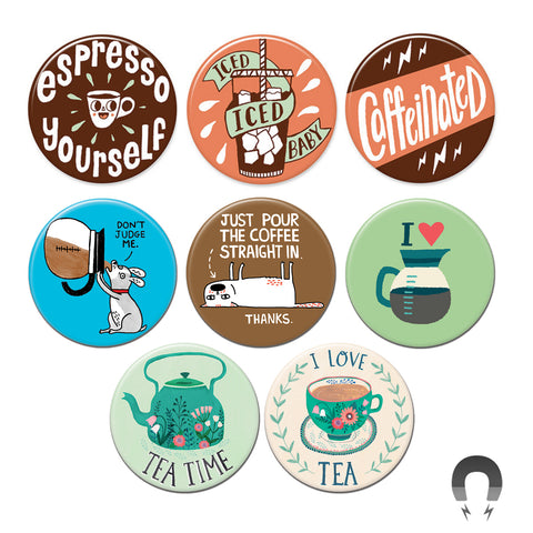 Coffee & Tea Big Magnets Bundle