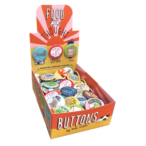 Food for Thought Button Box by Kate Sutton