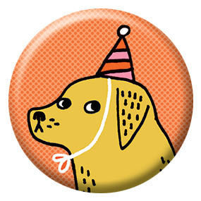 Gemma Correll Party Hat Hound 1 inch Button