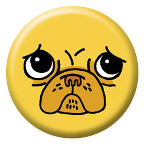 Gemma Correll Pug Face 1 inch Button