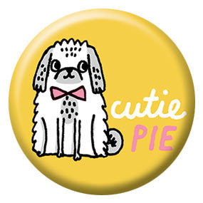 Gemma Correll Cutie Pie 1 inch Button
