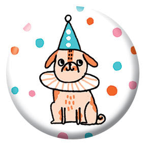 Gemma Correll Party Puppy 1 inch Button