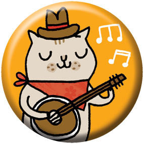 Gemma Correll Banjo Kitty 1 inch Button