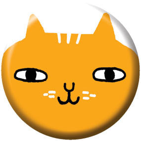 Gemma Correll Big Cat Face 1 inch Button