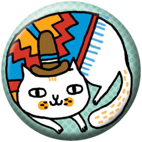 Gemma Correll Andes Cat 1 inch Button