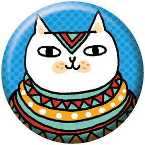 Gemma Correll Egyptian Cat 1 inch Button