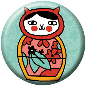 Gemma Correll Russian Cat 1 inch Button