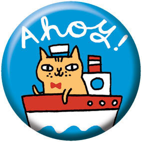 Gemma Correll Ahoy Cat 1 inch Button
