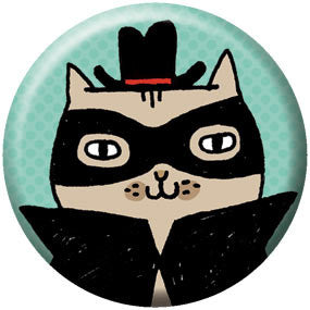 Gemma Correll Cat Burglar 1 inch Button