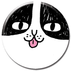"Cat Face 1"" Button by Gemma Correll"