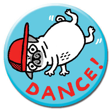 "Dance! 1.25"" Button by Gemma Correll"
