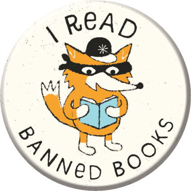 I Read Banned Books Button. Buttons by Greg Pizzoli.