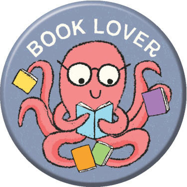 Book Lover Button. Buttons by Greg Pizzoli.