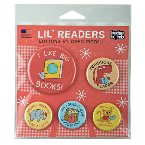 Readers Button pack by Greg Pizzoli for Badge Bomb