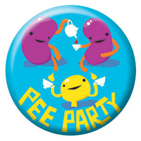 I Heart Guts Pee Party 1 inch Button