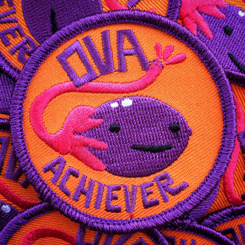 Ova Achiever iron-on patch by I Heart Guts