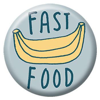 Kate Sutton Fast Food 1 inch Button