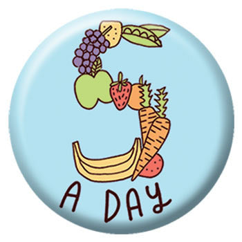 Kate Sutton Five A Day 1 inch Button