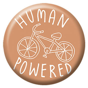 Kate Sutton Human Powered 1 inch Button