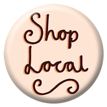 Kate Sutton Shop Local 1 inch Button