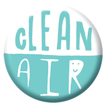Kate Sutton Clean Air 1 inch Button