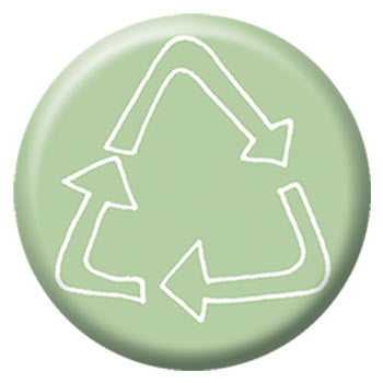 Kate Sutton Recycle 1 inch Button