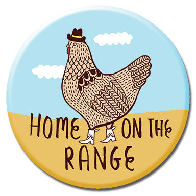 "Home On The Range 1.25"" Button by Kate Sutton"