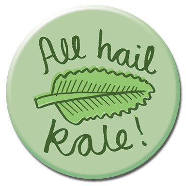 "All Hail Kale 1.25"" Button by Kate Sutton"