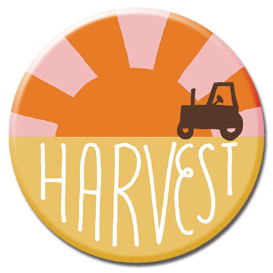 "Harvest 1.25"" Button by Kate Sutton"
