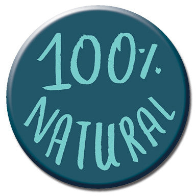 "100% Natural 1.25"" button by Kate Sutton"