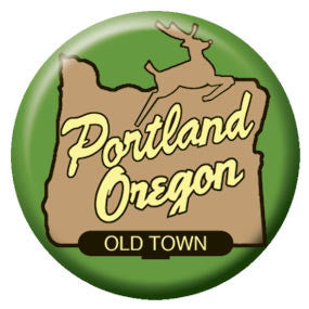Made in Oregon Sign 1 inch Button
