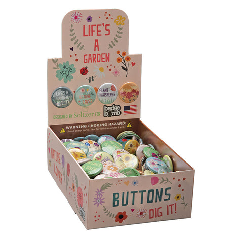 Life's A Garden Button Box