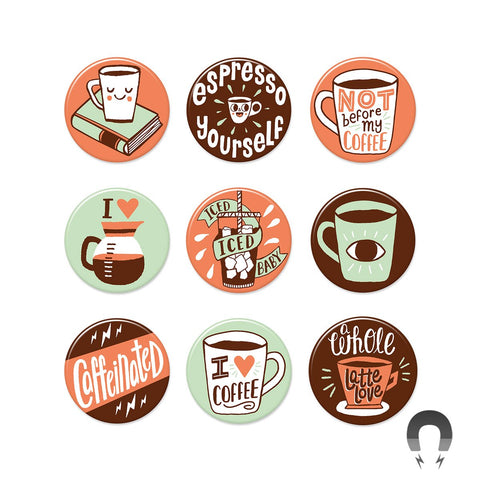 Coffee Big Magnets Bundle