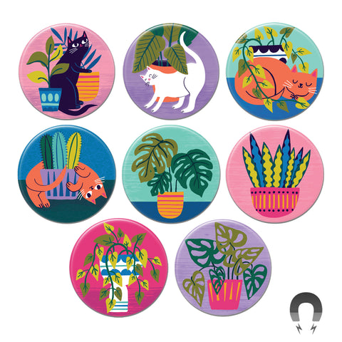 Purrfect Plants Big Magnets Bundle
