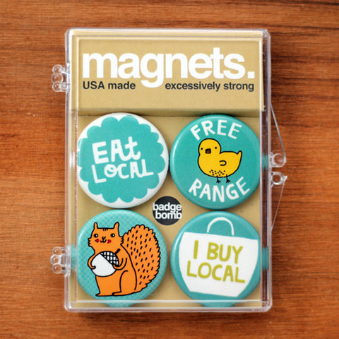 Free Range Magnets by Gemma Correll from Badge Bomb photo