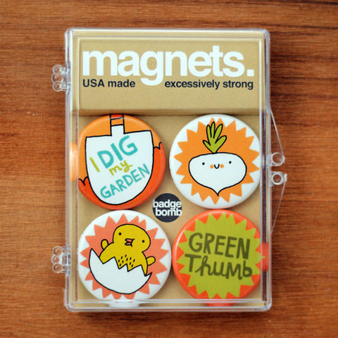 Dig My Garden Magnet Pack photo by Gemma Correll from Badge Bomb