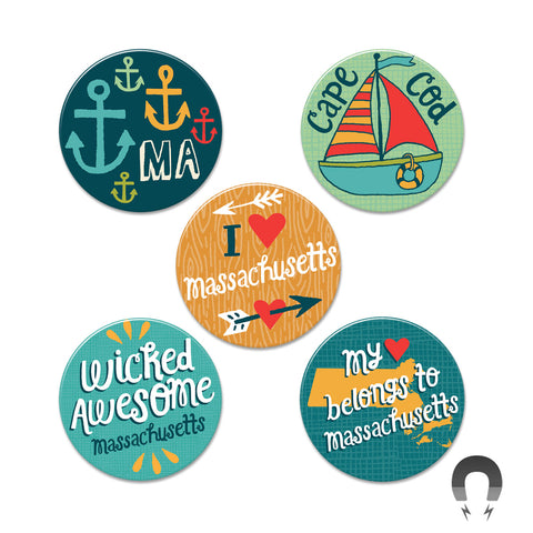 Massachusetts Big Magnets Bundle